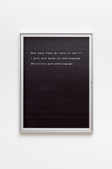 Bethan Huws, 'Untitled (How many times do I ....)'