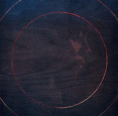 Aimée M. Everett, 'Ripple- Mixed Media Conceptual Silhouette Self-Portrait of Artist - Contemporary Painting on Wood Panel ', 2020