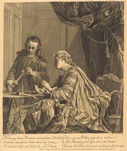 Etienne Fessard after Jean Siméon Chardin, 'Dame cachetant une lettre (Lady Sealing a Letter)', 1738
