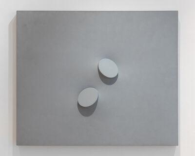 Turi Simeti, 'Due ovali in grigio', 1993