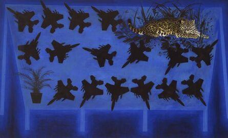 Silvio Merlino, 'VENDESI F 15 CON VOCAZIONE TROPICALE', 1988