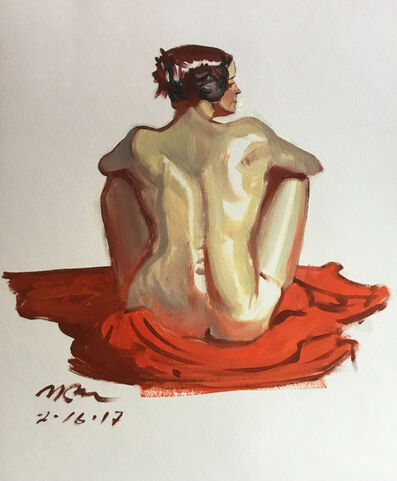 Mark Ross, 'Untitled (Seated on Red)', 2017
