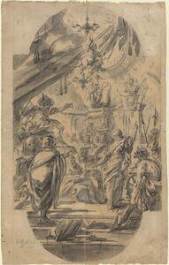 Georg Wilhelm Neunhertz, 'The Disputation of Saint Catherine of Alexandria', 1727