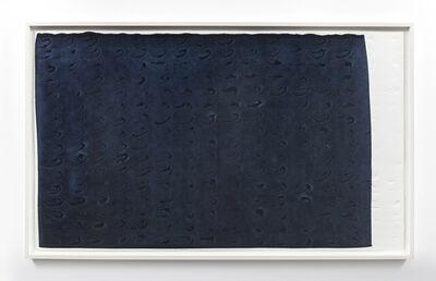 Analía Saban, 'Brushstroke Matrix, XL (Payne's Gray)', 2017