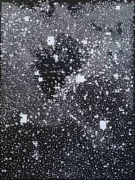 Marco Maggi, 'Waiting to Surface (white on black)', 2019