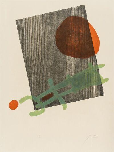 Joan Miró, 'A poster for the exhibition 'A tout epreuve' in the Galerie Berggruen, Paris (Dupin 235)', 1958