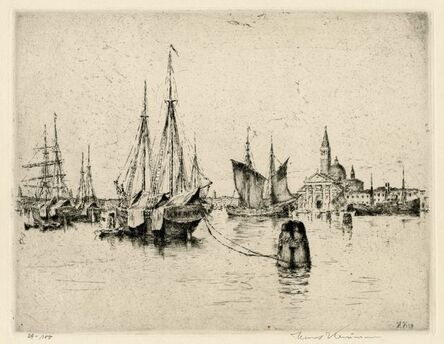 Hans Kaumann, '[Venice Harbor]', 1924