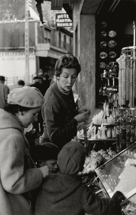 Henri Cartier-Bresson, 'Woman Shopping with Children, Lourdes', 1958