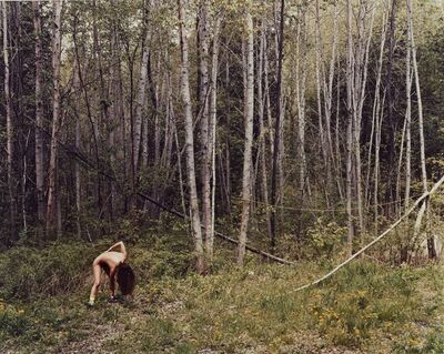 Joel Sternfeld, 'The Poet June Miller Doing Stretches, Plainfield, Vermont, May 1980', 1980