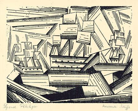 Lyonel Feininger, 'Kreuzende Segelschiffe 2 (Cruising Sailing Ships 2) ', 1919