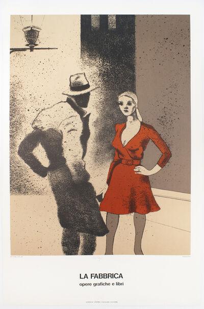 R. B. Kitaj, 'La Fabbrica, Milan (A Life 1975) SIGNED ', 1975