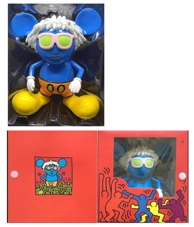 """Keith Haring, '""""Andy Mouse""""(BLUE), Edition of 1000.', 2005"""