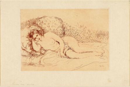Pierre-Auguste Renoir, 'Femme couchée (tournée à gauche)', 1906