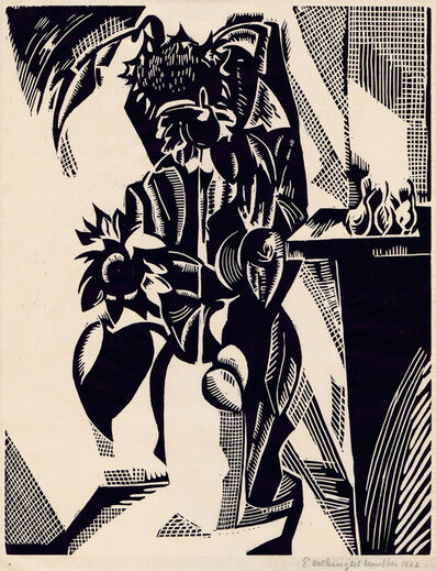 Edward McKnight Kauffer, 'Flower Piece Or Sunflowers', 1922