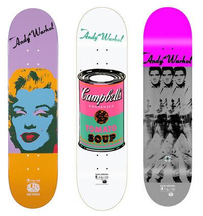 Andy Warhol, 'Skateboard set of 3', ca. 2013