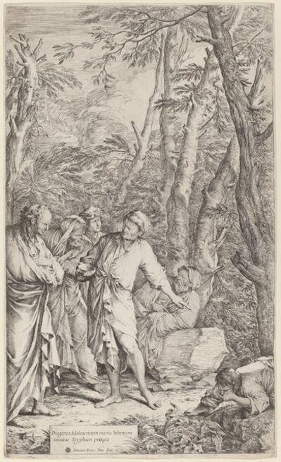 Salvator Rosa, 'Diogenes Casting Away His Bowl', 1615-1673