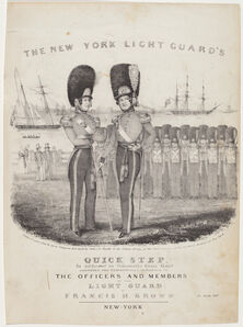 Nathaniel Currier, 'The New York Light Guard's Quick Step', 1839