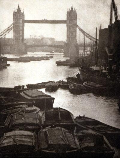 Alvin Langdon Coburn, 'Tower Bridge and Barges', 1906