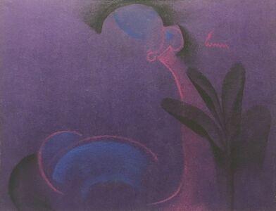 Ramananda Bandyopadhyay, 'Mixed Media in blue, royal, pink, black, Modern Indian Artist, student of Nandalal Bose', 2005