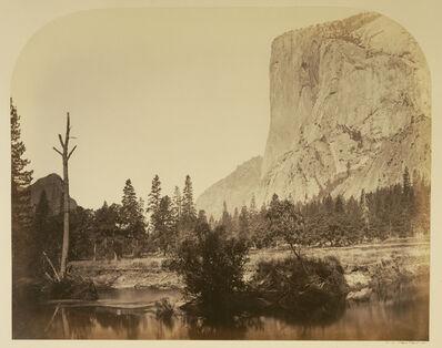 Carleton E. Watkins, 'Tutucanula - El Capitan 3600 ft. Yo Semite', 1861