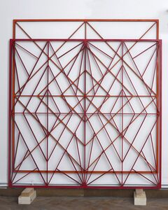 Arantxa Etcheverria, 'Orange and Red Double Structure', 2014