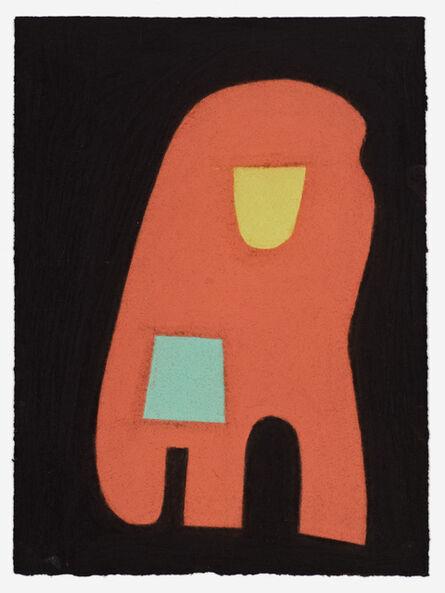 Julian Martin, 'Untitled (Brown shape on black)', 2014