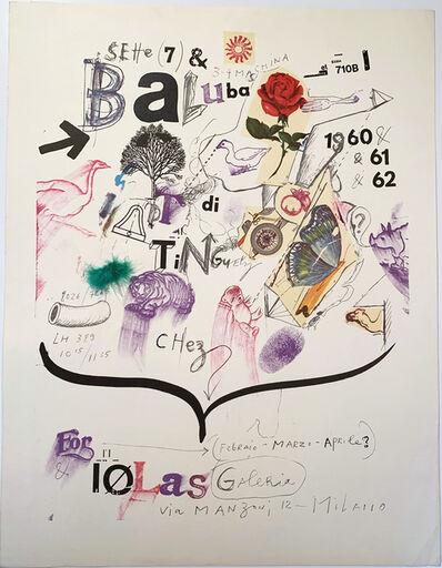 Jean Tinguely, 'Jean Tinguely, Sette (7) & Baluba di Tinguely Chez for Iolas Galeria , Milano Gallery Poster', 1962