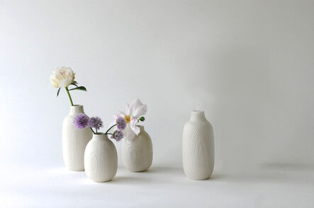 Abigail Murray, 'Tall Wood Grain Bottles', 2018