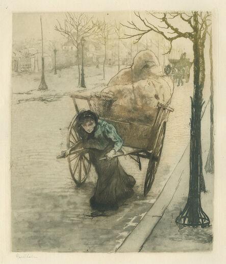 Edgar Chahine, 'La Chiffonnière', 1901