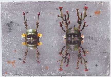 Ashley Bickerton, 'Green Reflecting Heads Duo No. 5'