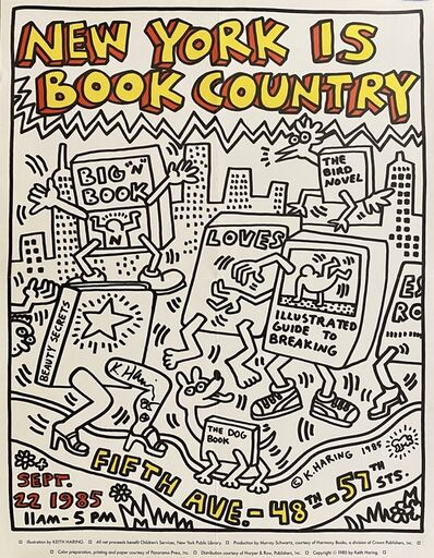 Keith Haring, 'New York Is Book Country', 1985