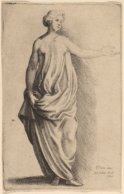 Wenceslaus Hollar after Parmigianino, 'Standing Figure'