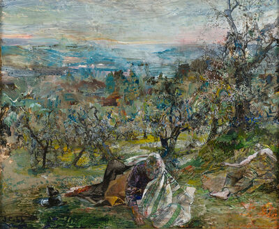 John Cobb, 'Sleeping Disciples, The Mount of Olives on the Morning of the Arrest', 2018