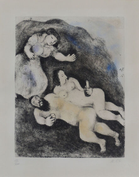 """Marc Chagall, '""""Lot and his Daughters""""', 1969"""