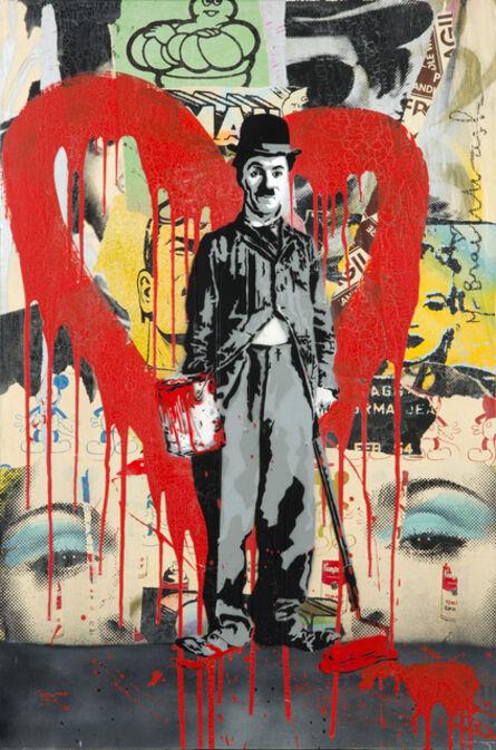 Mr. Brainwash, 'Charlie Chaplin (Red)', 2011