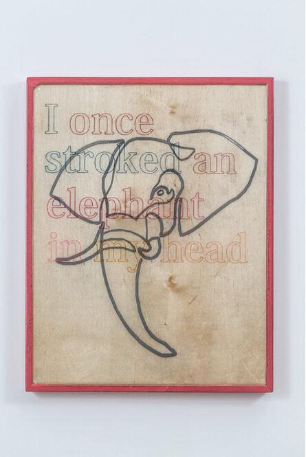 Guy Zagursky, 'I once stroked an Elephant in my head', 2020