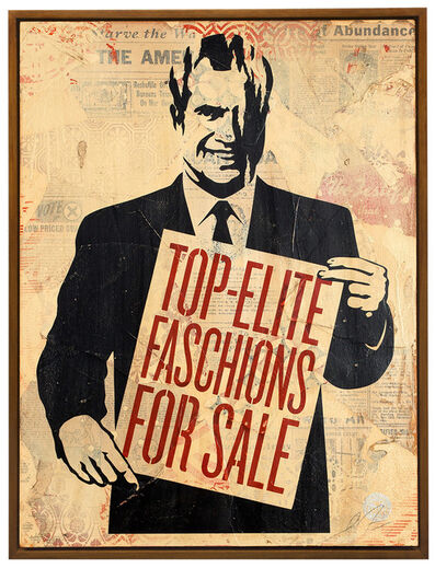 Shepard Fairey, 'Top Elite Faschions For Sale', 2012