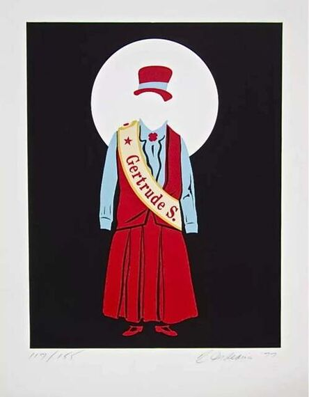 Robert Indiana, 'Gertrude Stein (Virgil Thomson, Mother of Us All Suite)', 1977