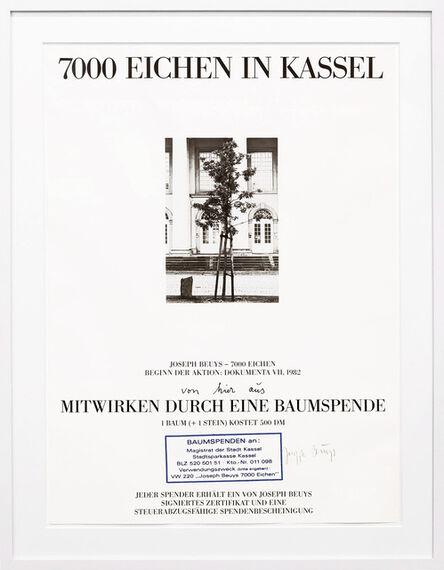 Joseph Beuys, 'Baumspende - 7000 Eichen in Kassel', 1984