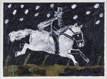 Danny Fox, 'Rider in snow', 2016