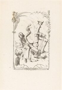 Adolf Schrödter, 'Peter Schlemihl with the Bag of Money', 1836