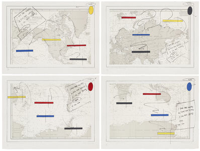 Lawrence Weiner, 'Islands In the Storm (A Set of Four Prints),', 1990
