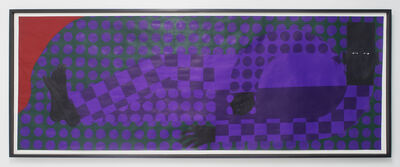Jon Key, 'Man in the Violet Dreamscape No. 3 (Man in the Violet Suit No. 10 (Green) )', 2018