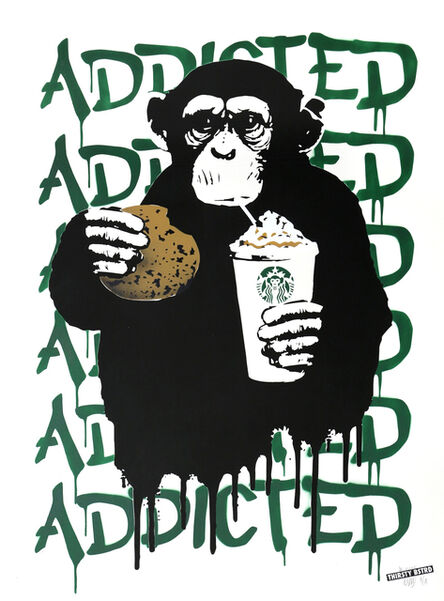 Thirsty Bstrd, 'Fast Food Monkey – Starbucks Green', 2016