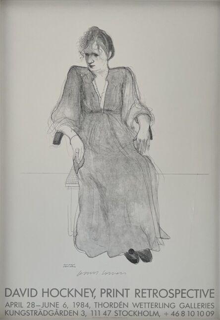 David Hockney, 'Hand Signed 'David Hockney, Print Retrospective'', 1984