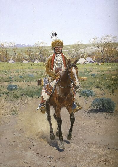 Henry F. Farny, 'Sioux Indian', 1898