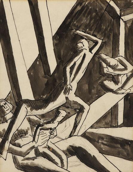 David Bomberg, 'The Family (Study for Ghetto Theatre II)', 1919