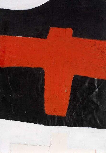 John Blackburn, 'Cross (Red on Black)', 1969