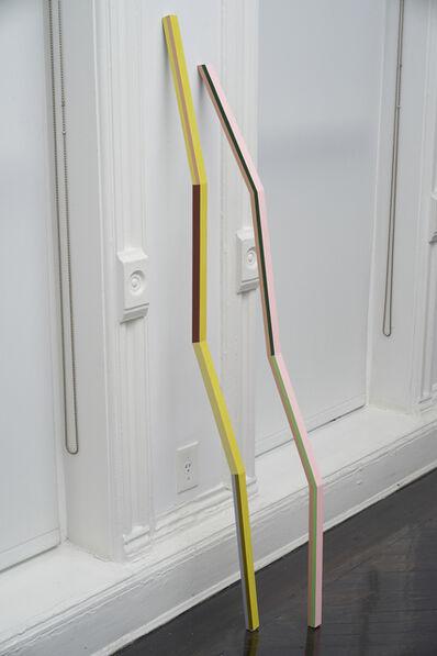 Diana de Solares, 'Doble línea que Toca el Suelo y Apunta al Cielo (Double line that touches the floor and points to the sky)', 2014