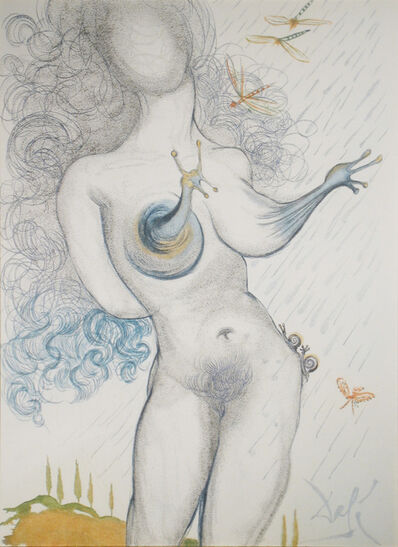 Salvador Dalí, 'Nude with Snail Breasts', 1967